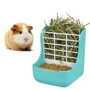 2 in 1 food and hay feeder for guinea pig cage