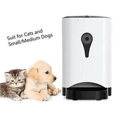 4.5L Automatic Dog Feeder with WiFi Remote Control, Speaker, Two Feeding Mode and Preset Timer by UUNITONA