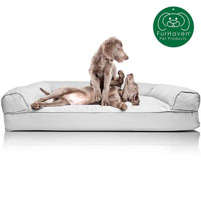 FurHaven Sofa-Style Orthopedic Foam Dog Bed with Machine Washable Cover