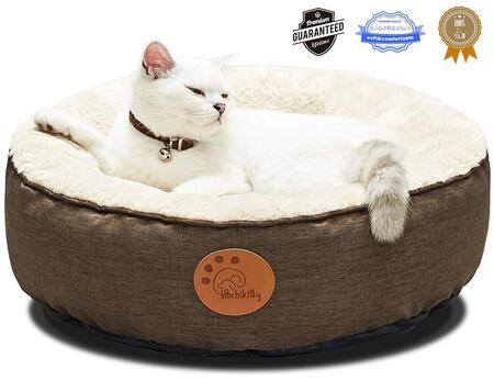 HACHIKITTY Luxurious Fur Washable Round Cat Bed