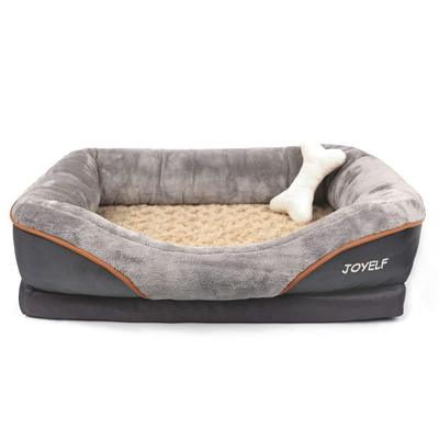 JOYELF Memory Foam Orthopedic Dog Bed with Waterproof and Non-Slip Backing