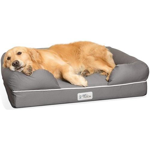 PetFusion Ultimate Dog Bed In Solid Memory Foam with Water Resistant Removable and Washable Cover