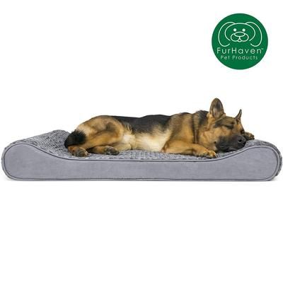 furhaven medical-grade orthopedic foam luxe lounger dog bed