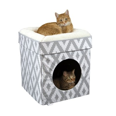 Kitty City Large Easy Assembly Cube Bed for Cats