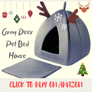 Gray Deer Pet Bed House by Hollypet
