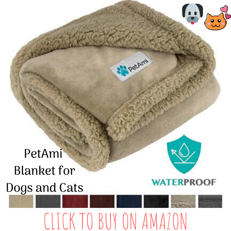 PetAmi Waterproof Sherpa Pet Blanket