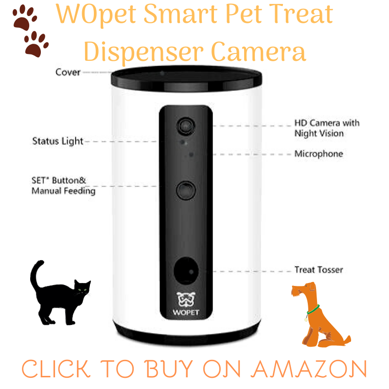 WOpet pet dog camera treat tossing