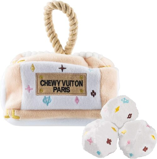 Haute Diggity Dog Toy Chewy Vuiton Trunk