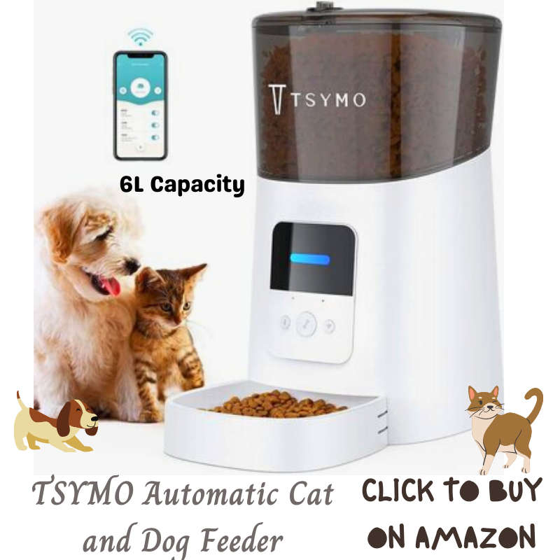 TSYMO 6L Capacity Automatic Cat Feeder