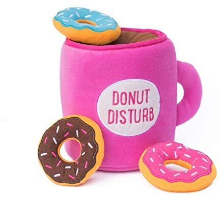 ZippyPaws Coffee and Donut Dog Toy