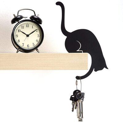 Artori Design Black Metal Decorative Cat Shaped Hanger Gift for Cat Lovers