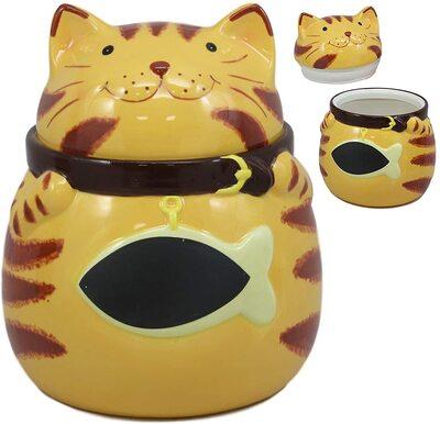 Ebros Ceramic Cat Cookie Jar