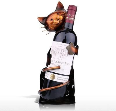 Tooarts Cat Shaped Wine Holder