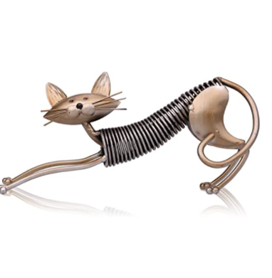 Tooarts metal cat sculpture