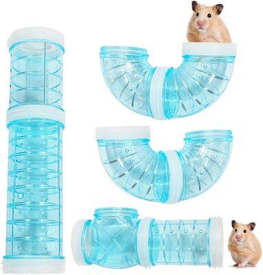 Transparent Hamster Tubes Tunnels