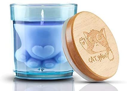 cat paw shaped scented candle