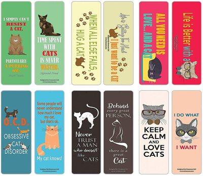 creanoso cat bookmark cards best cheap gift idea for cat lovers